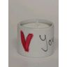 Hand-painted porcelain tealight holder